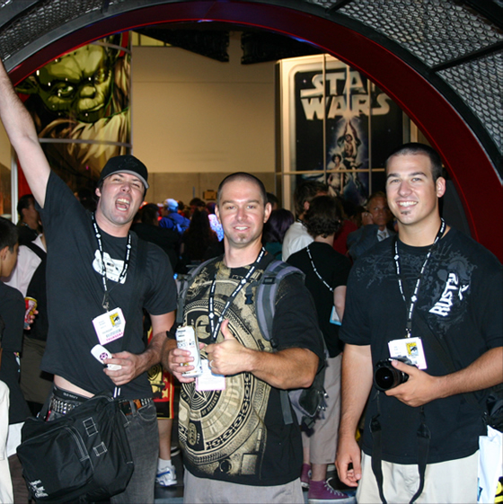 Brandon, Dan and John at Comicon 2007
