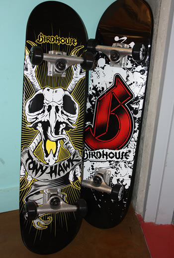 We stopped by Birdhouse to pick up something and saw a couple of decks we designed laying around.