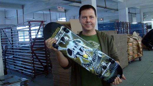One of our skateboard graphics hot off the press.