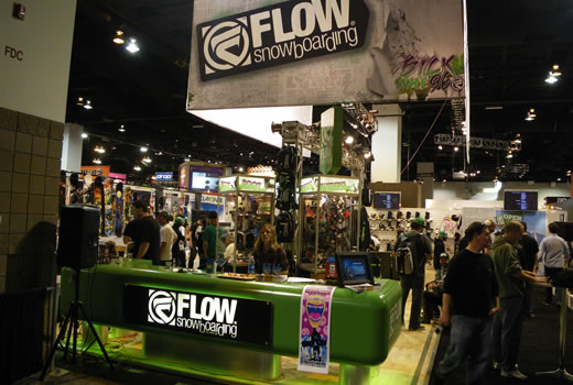 The Flow logo that we design in action